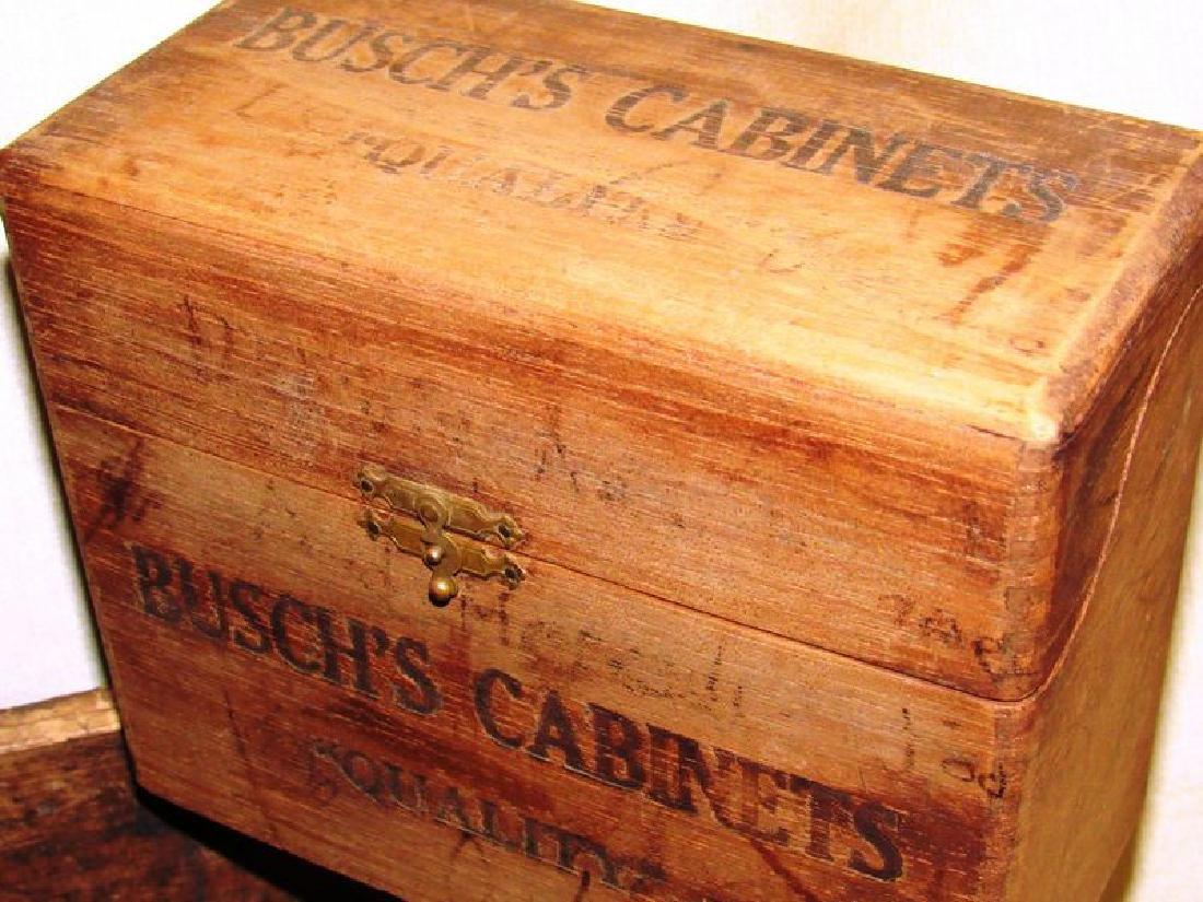 Lot vintage- antique wooden boxes (7) - 3