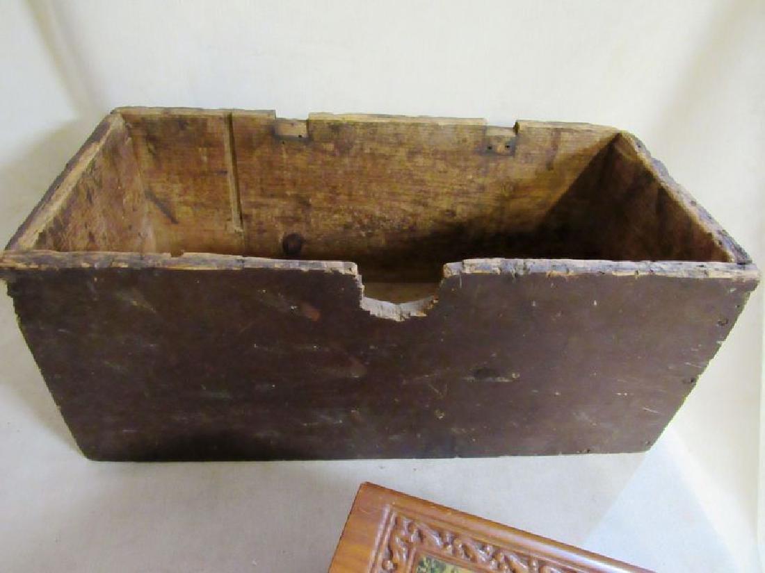 Lot vintage- antique wooden boxes (7) - 7