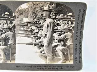 Antique stereoview WWI Keystone