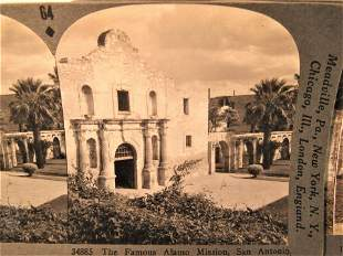 Antique stereoview of the Alamo & Mission San Diego