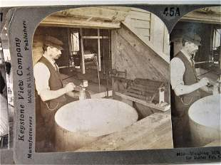 8 Antique occupational dairy stereoviews