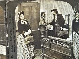 12 Antique theatrical stereoviews