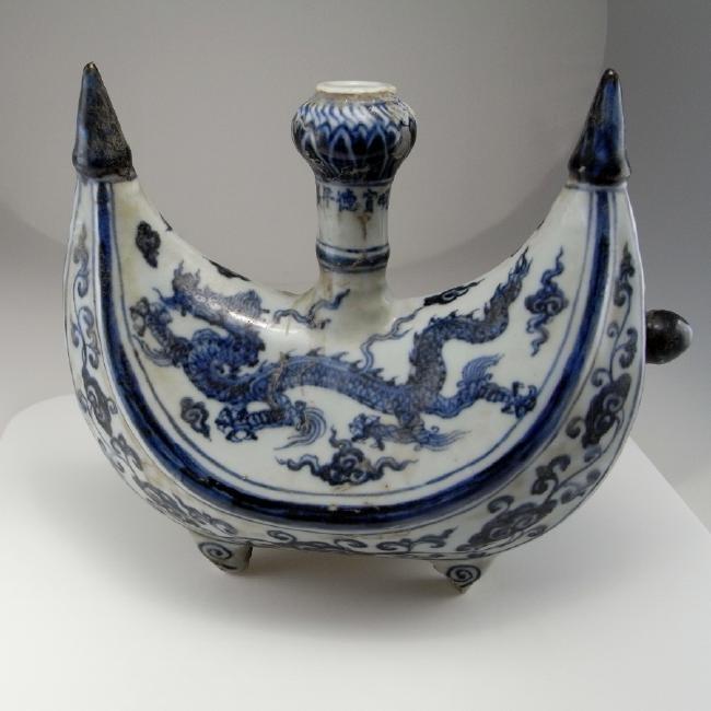 Rare Ming Dynasty Porcelain Pilgrim Flask Xuande