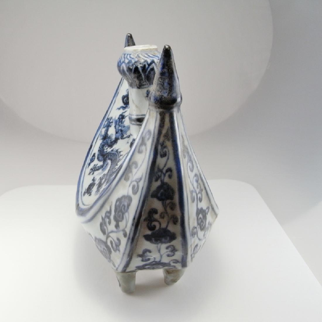 Rare Ming Dynasty Porcelain Pilgrim Flask Xuande - 3