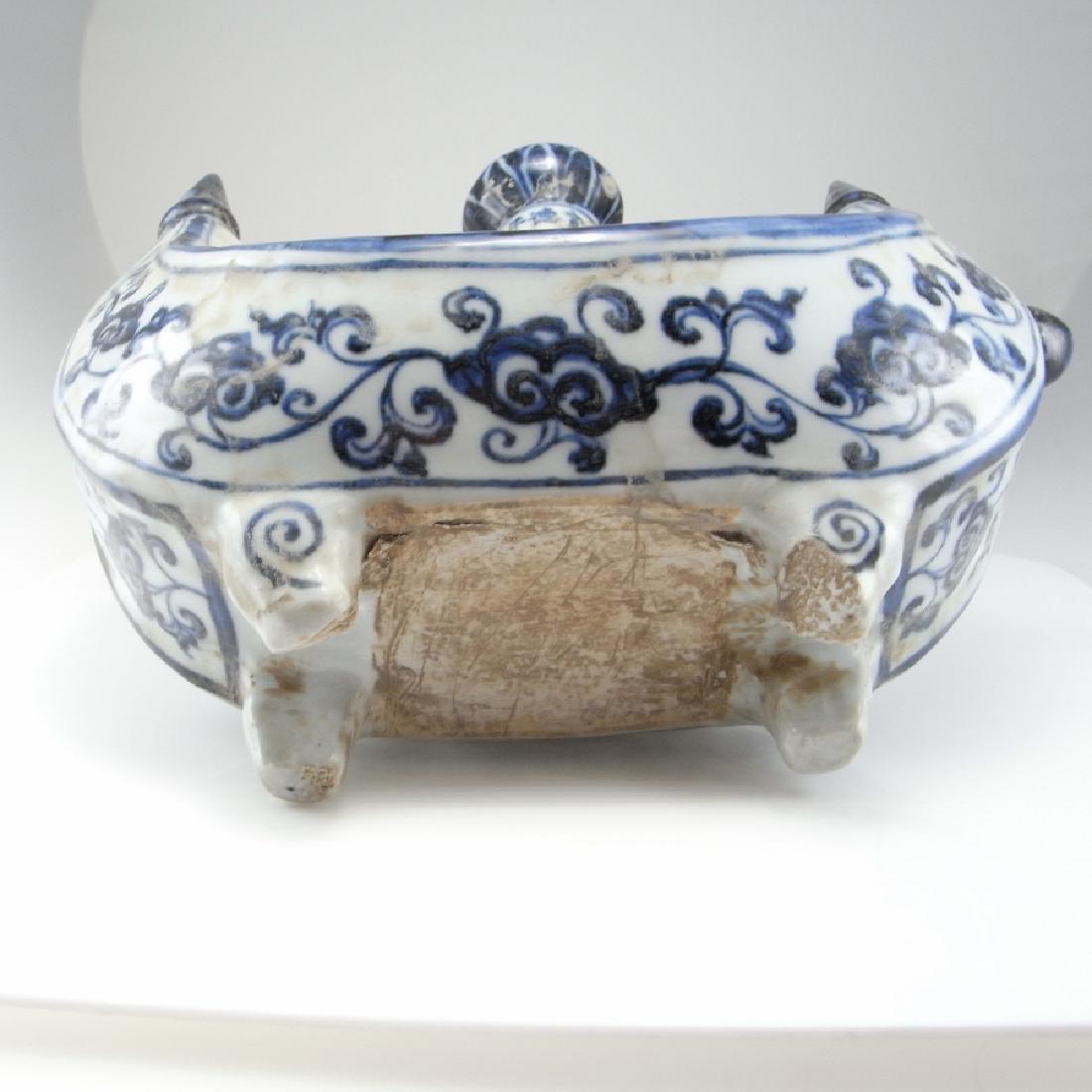 Rare Ming Dynasty Porcelain Pilgrim Flask Xuande - 4