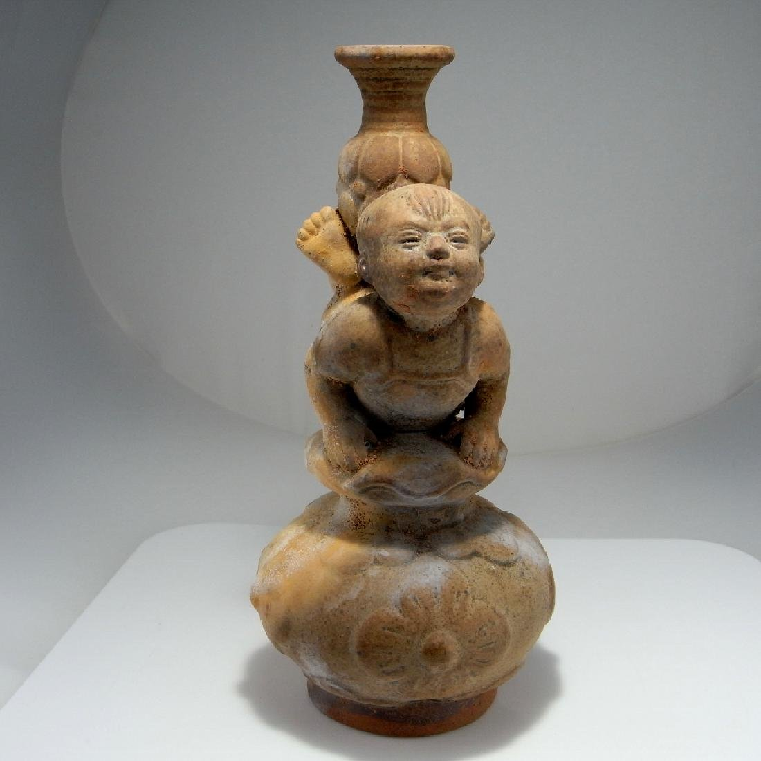 CHINESE Liao to Tang Dynasty Vessel Flask - 5