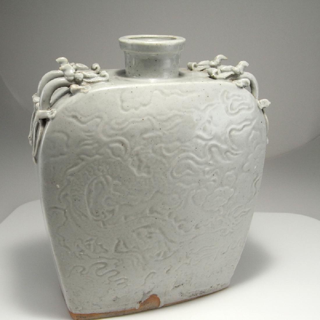 Yuan Dynasty White Wine Vessel Flask