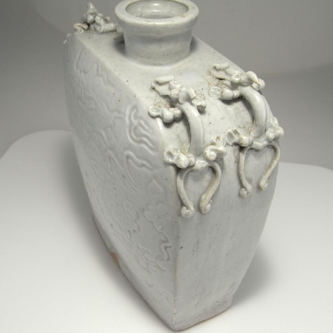 Yuan Dynasty White Wine Vessel Flask - 3