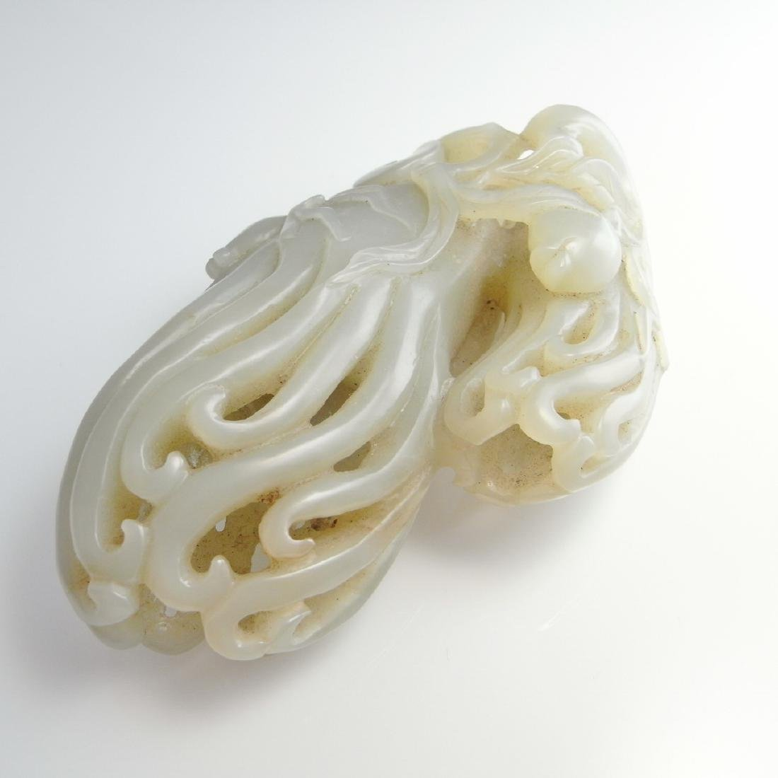 ANTIQUE BUDDHAS HAND CITRON JADE ORNAMENT CARVING