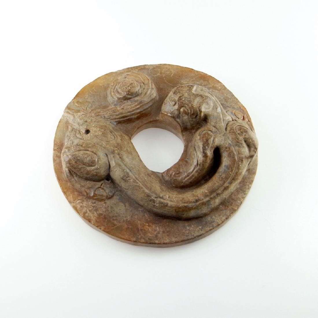 CHI TIGER BI DISC ORNAMENT HAN ANCIENT CHINA