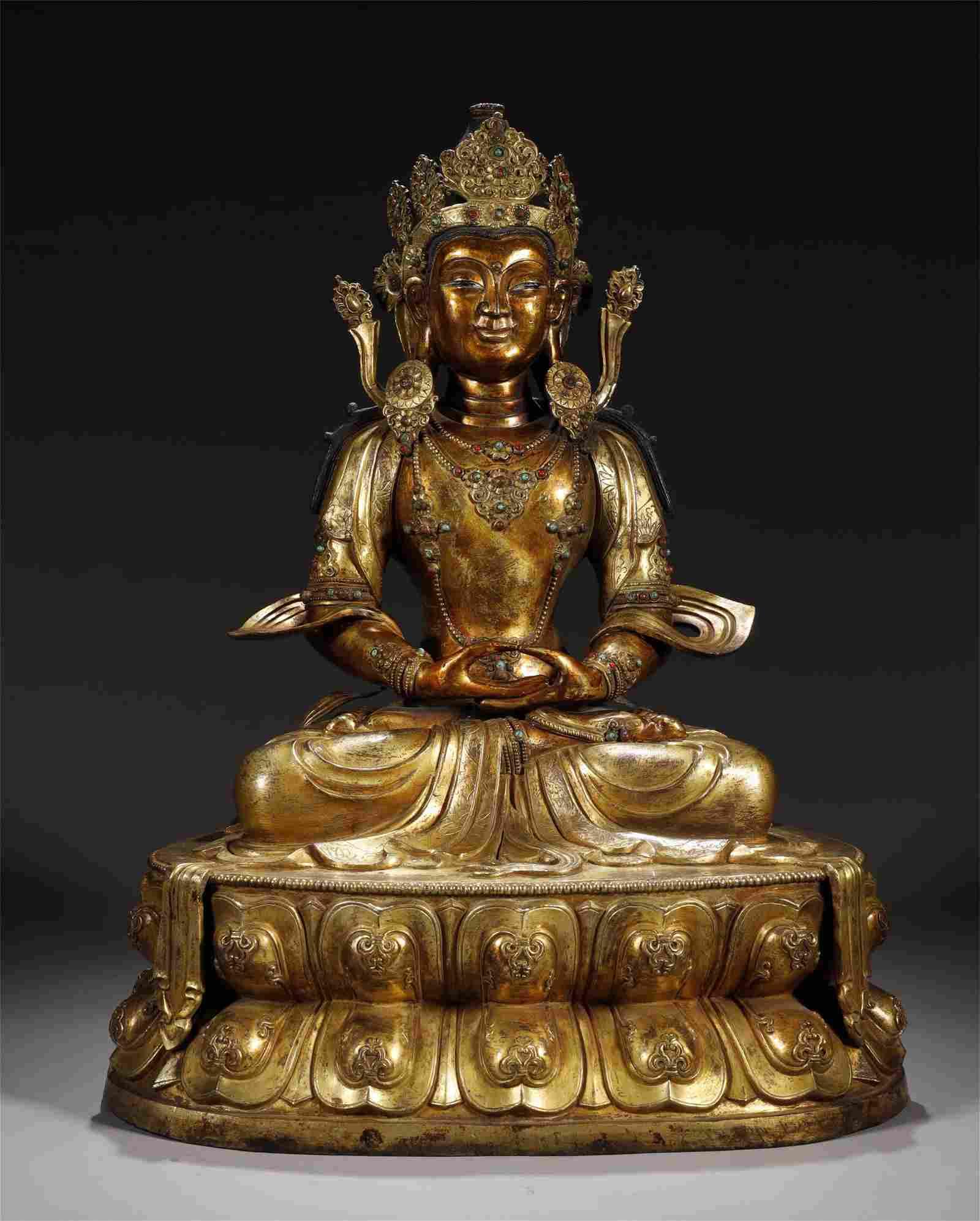 Gilt Bronze Buddha Statue