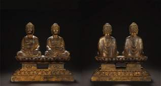 Early Stage Gilt Bronze Buddha Statues