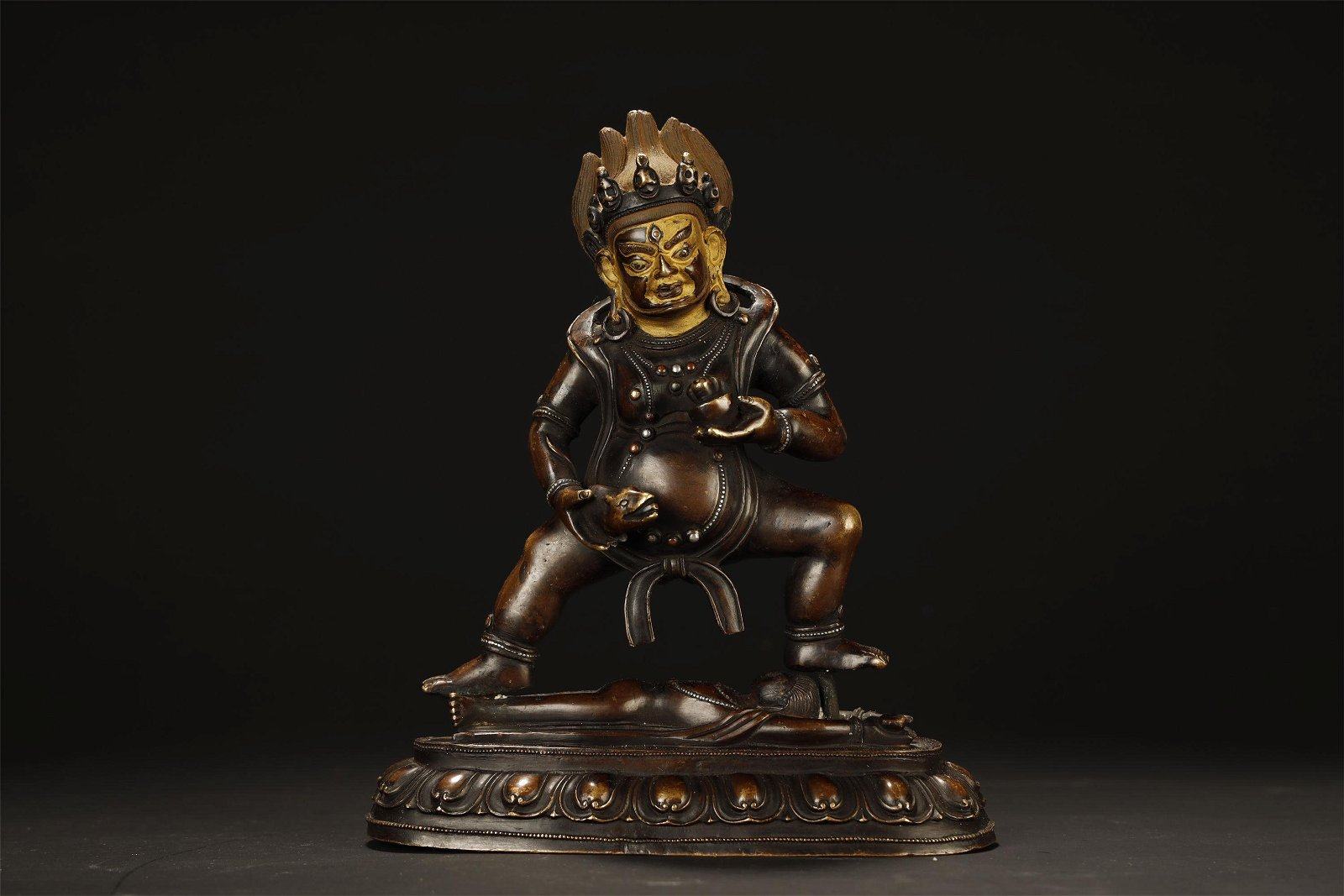 Tibetan Bronze God Of Fortune Buddha