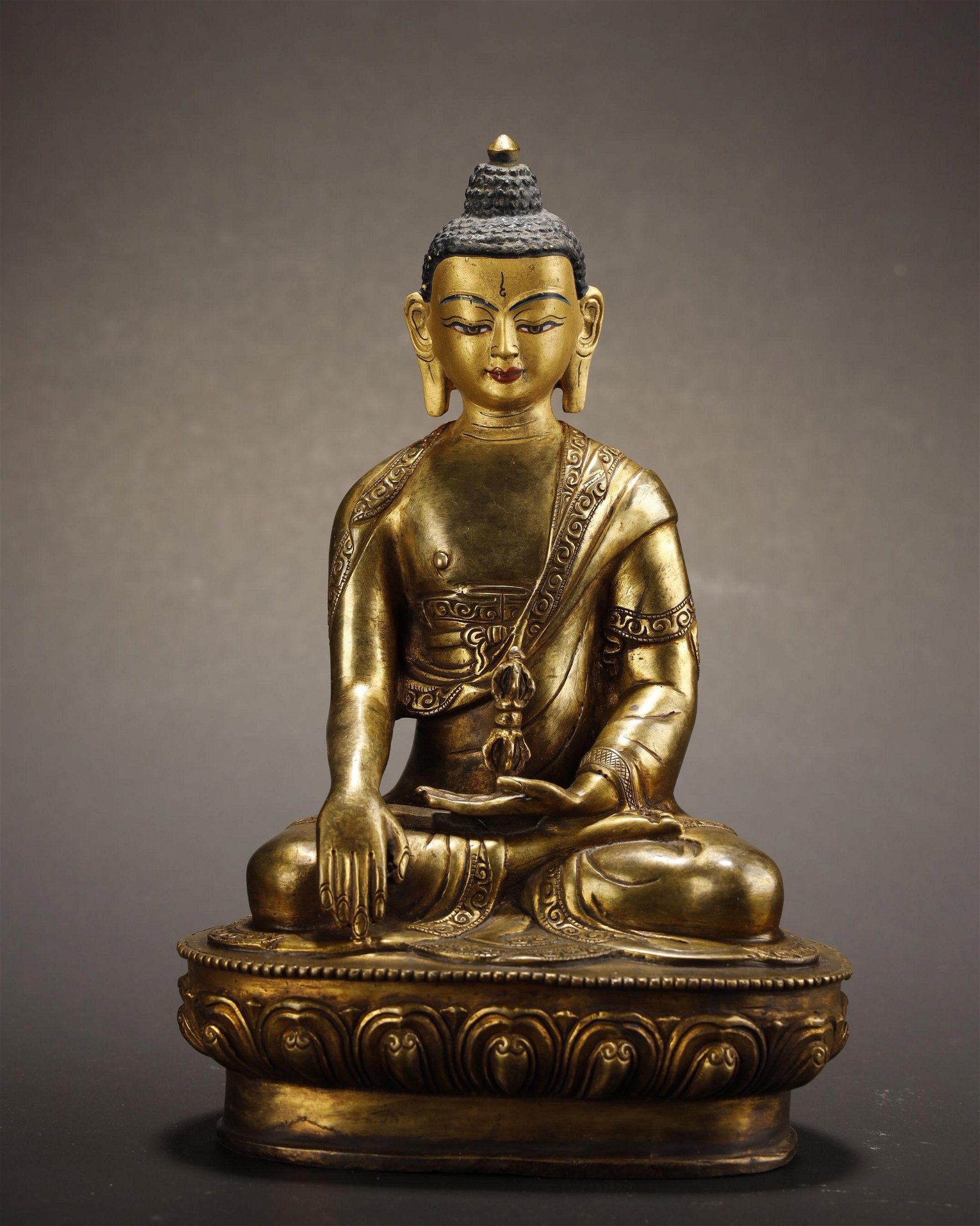 Qing Dynasty, Gilt Bronze Buddha Statue