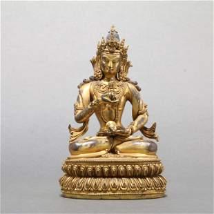 Tibet Gilt Bronze Buddha Statue