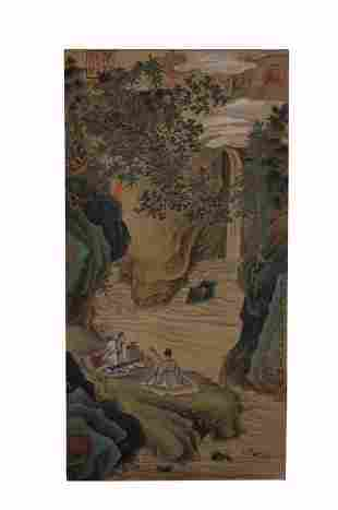 Tang Yin, Lanscape and Figure Painting