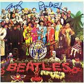 "The Beatles ULTRA RARE Signed ""Sgt Peppers"" Album Cover"