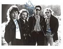 "Van Halen Group Signed 8"" x 10"" B&W Photograph"