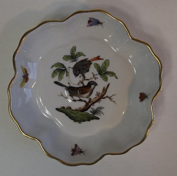 Hungary Rothschild Bird hand-painted porcelain 1930s