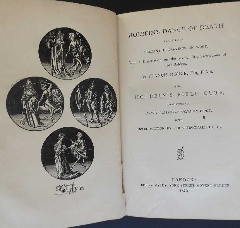 Holbein Dance of Death, Francis Douce, Bible Cuts, 1872