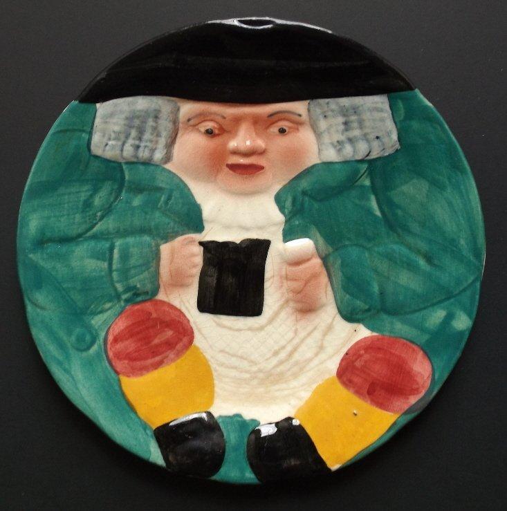 porcelain Toby with Mug Plate, Shorter & Son 1920s