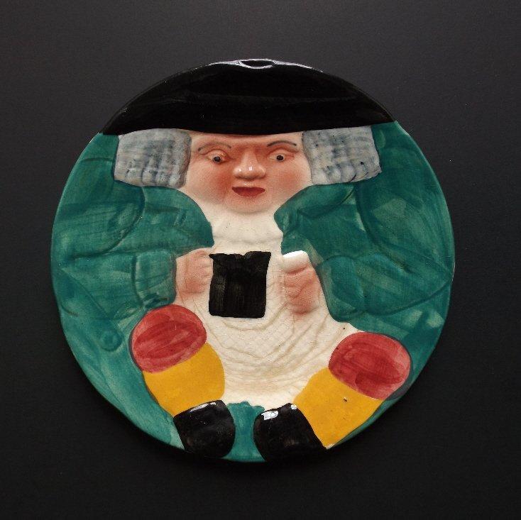 porcelain Toby with Mug Plate, Shorter & Son 1920s - 2