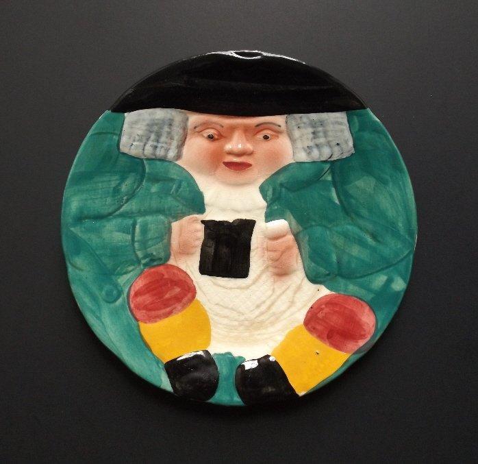 porcelain Toby with Mug Plate, Shorter & Son 1920s - 5