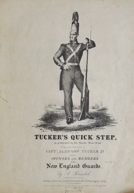 Tuckers Quick Step, 1836, Military Sheet Music, Litho