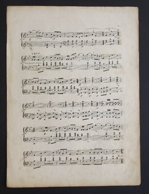Tuckers Quick Step, 1836, Military Sheet Music, Litho - 6