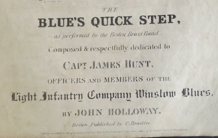 Blues Quick Step 1836 Military Sheet Music, Litho - 4