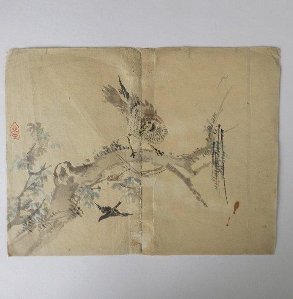 Kazan Watanabe, Sparrowhawk, Woodblock Print 1911