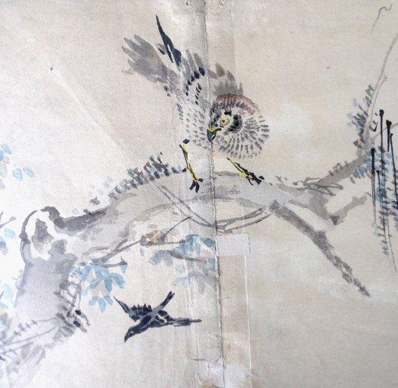 Kazan Watanabe, Sparrowhawk, Woodblock Print 1911 - 3