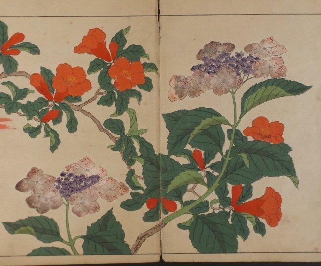 Sakai Hoitsu, Red Bell Flowers, 1st woodblock pr. 1907