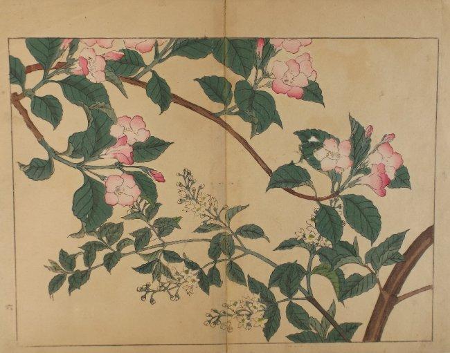 Sakai Hoitsu, Spring blossoms, 1st woodblock print 1907
