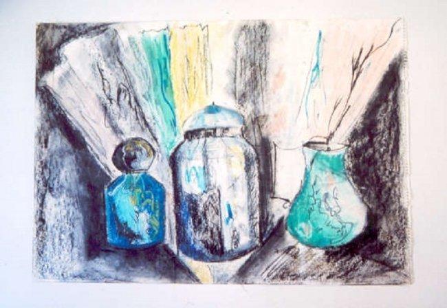 Irakli Parjiani, Three Vases 1989 Georgia listed Artist