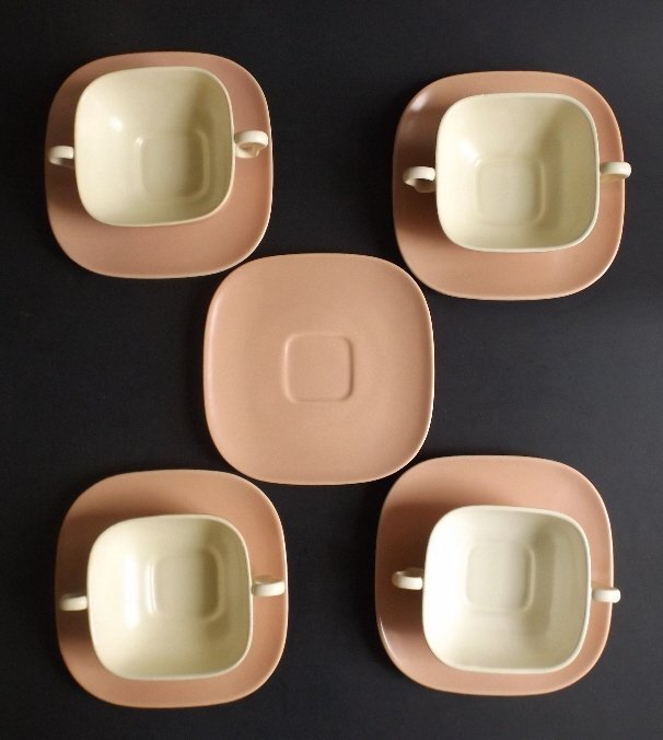 Franciscan Ware Set Mid Century 4 cups 5 saucers