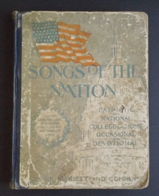 Songs of the Nation 1896 Sheet Music hard cover book - 2