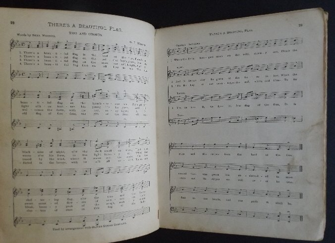 Songs of the Nation 1896 Sheet Music hard cover book - 3