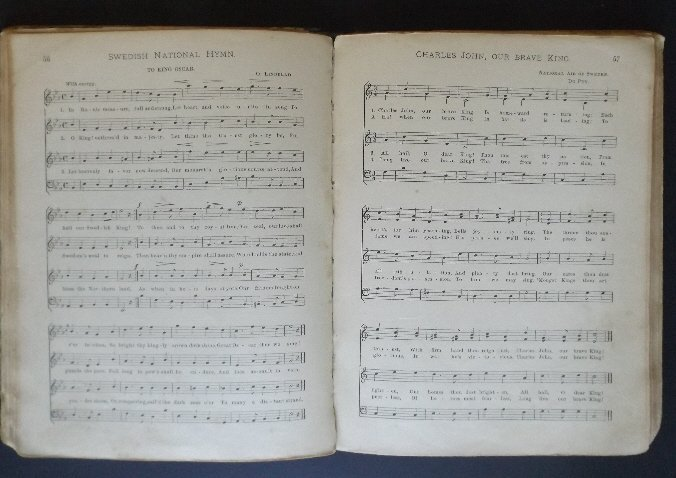 Songs of the Nation 1896 Sheet Music hard cover book - 4