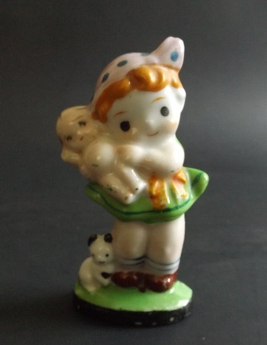 Little Girl, porcelain figurine, Occupied Japan 1947-52