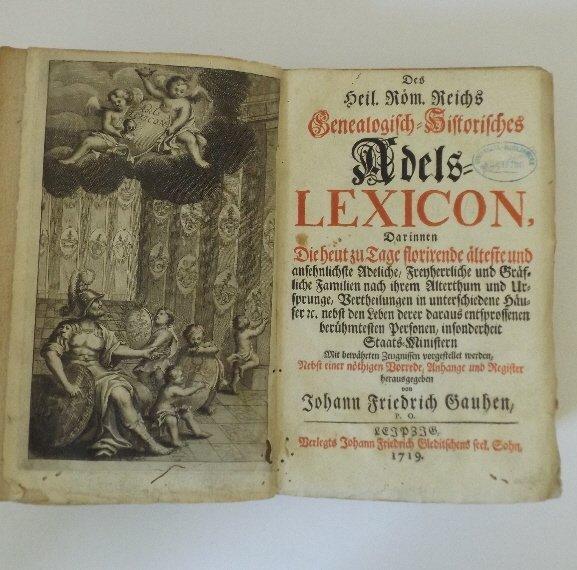 Genealogical Lexicon Nobility Roman Empire 1719