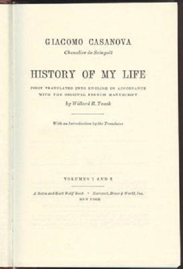 Giacomo Casanova, History of my Life 1966 - 4