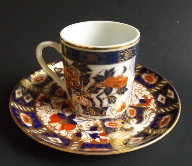 Davenport Staffordshire porcelain Cup & Saucer 1870s