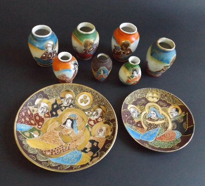 Geisha Jars Collection, Immortals 1940s Occupied Japan