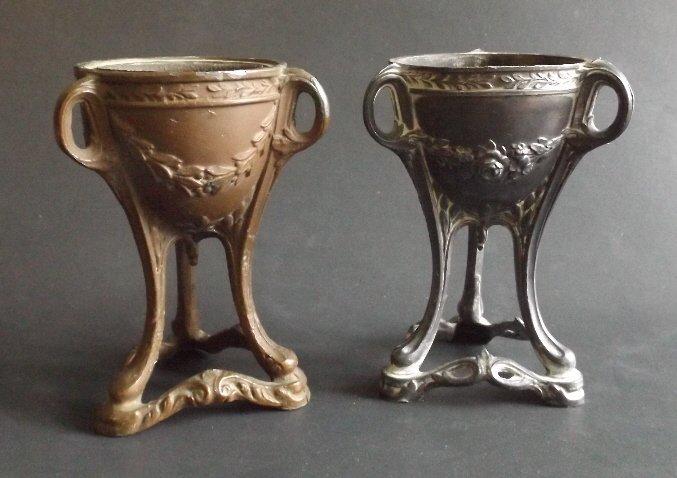 Art Nouveau Vaintines style tripod incense burners