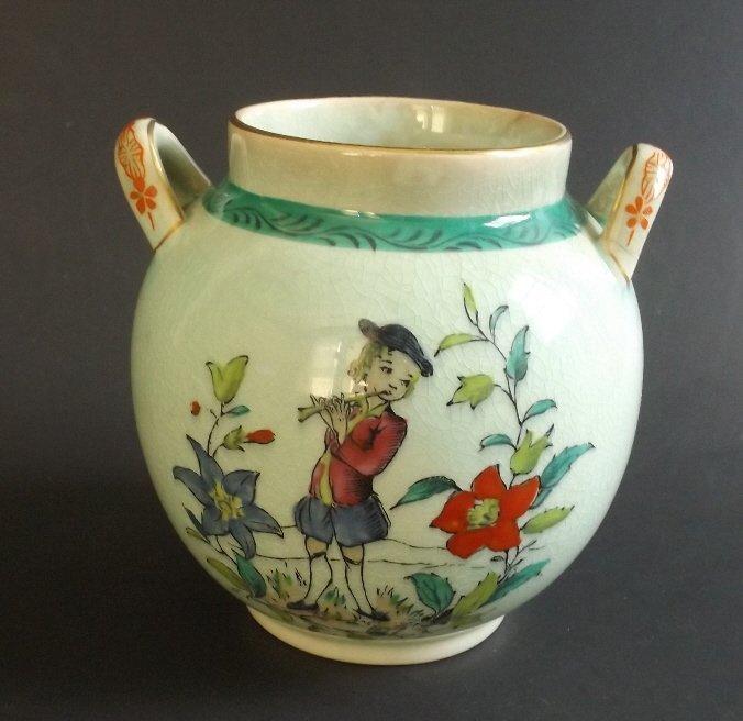 Rococo Decorated Jar, Adams Porcelain, England 1920s