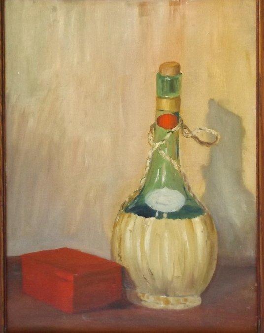 B. Adilone, Still Life, Oil Painting Mid Century