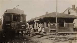 Trolley Depot Jordanville, NY, Real Photo Postcard 1910