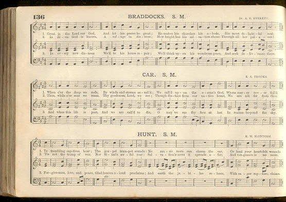 Everett, The Sceptre Church Music 1871 for School