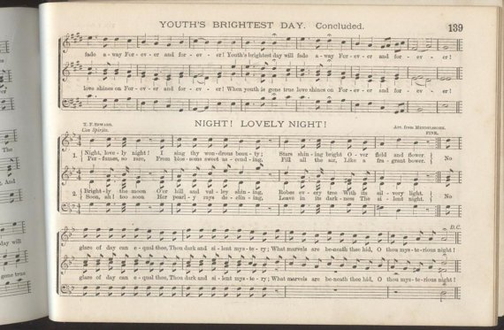 Seward, Glee Circle 1stEd, 1879 Sheet Music Songs